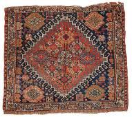 Handmade antique collectible Persian Gashkai bag face