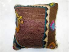 Brown Small Rug Pillow