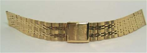 NOS Solid 14k Yellow GOLD Watch Bracelet 16 mm in