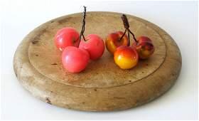 Vintage stone cherries.
