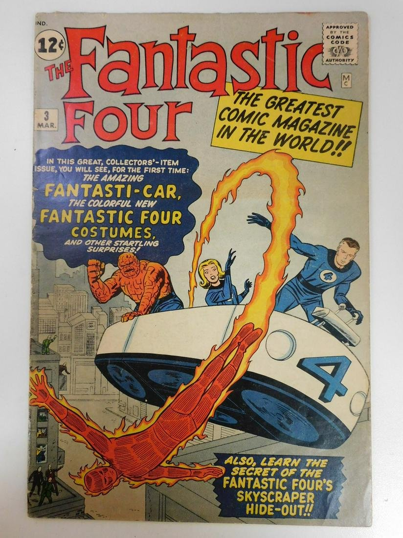 Fantastic Four #3 1st Time in Costume, 1st App. of
