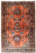 Handmade antique Persian Lilihan rug 3.2' x 4.10' (