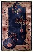 Handmade antique Art Deco Chinese rug 2.10' x 5.1' (