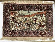 Semi Antique Hand Woven Persian Tabriz 2x3