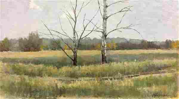 Oil painting Field near the forest Tereshchenko Vasily