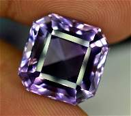 Asscher Cut Amethyst Loose Gemstone - 14.70 Carats