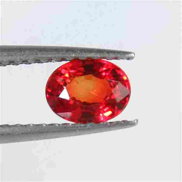 0.64 Ct Natural Ceylon Reddish Orange Sapphire Oval Cut