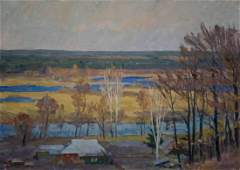 Oil painting Autumn has come Minka Alexander Fedorovich