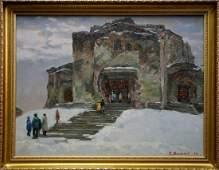 Oil painting Winter landscape Minka Alexander