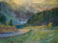 Oil painting Road to the forest Minka Alexander