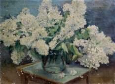 Oil painting Flowers Lisitsyn Sergey Viktorovich