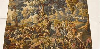 Antique French Hunting Tapestry