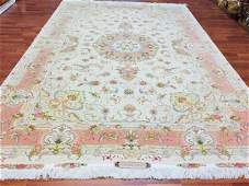 Fine singed Persian Silk and wool Tabriz,