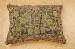 """Antique Hand Made of Caucasian Pillow Cushion Rug 1'5"""""""