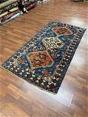 Semi antique Turkish Geometric rug-4007