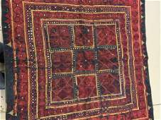 Semi Antique Hand Woven Persian Uzbeck Embroidery 3x3
