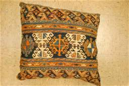 """Hand Made of antique rug Pillow Cushion Rug 1'7"""" x"""