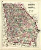 Gray's Atlas Map of Georgia