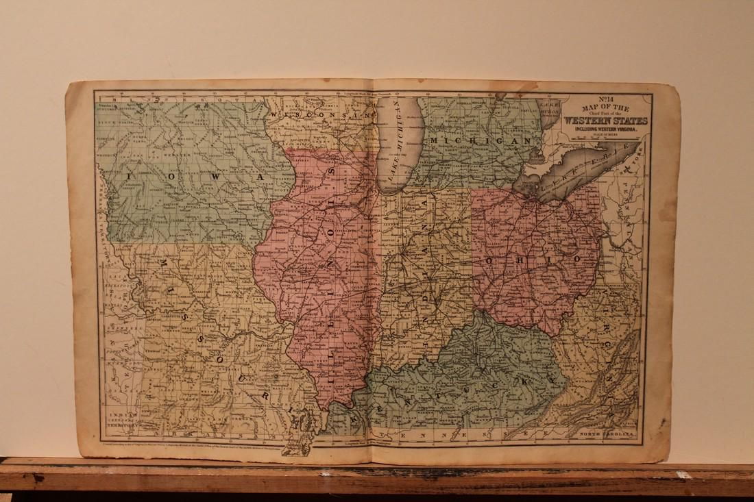 1852 Map of US western states