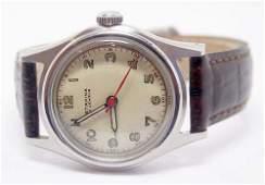 S/Steel Vintage STARINA 17J Mens Winding Watch WWII ERA
