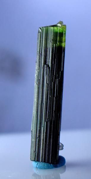 Natural & unheated~ Green Cap Tourmaline Crystal