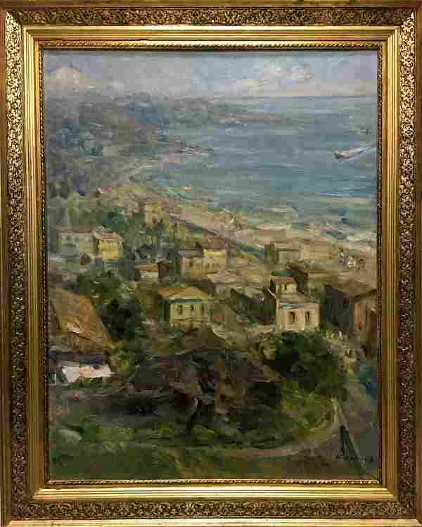 Oil painting City Krylov Konstantin Alekseevich