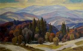 Oil painting Mountain landscape Joseph Mikhailovich