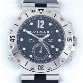 Bvlgari - Diagono Scuba GMT - Ref: SD 38 S GMT - Men -