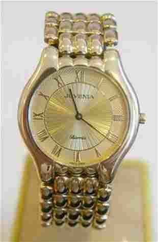 New 18k Yellow Gold JUVENIA BIARRITZ Men's watch Ref