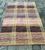 Superb very early 20th c Rag Carpet