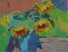 Oil painting Bouquet of sunflowers Tepeta Miacheslav