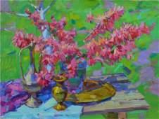 Oil painting Flowering branches Tepeta Miacheslav