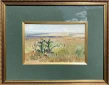 Oil painting Field M.V. Naumenko