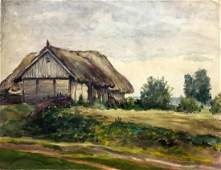 Oil painting House on the outskirts Cherkas A.G.