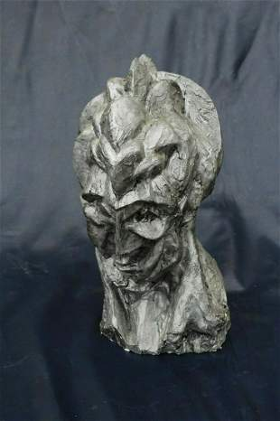 Cubist , Sculpture of Lady's Head Style of Picasso Cold