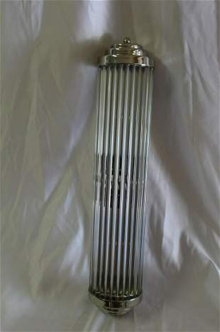 Art Deco Style Sconce ,Glass rods , Hi-polished Nickel
