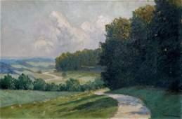 Oil painting Forest landscape