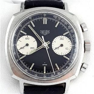 Heuer - Vintage Panda Chronograph - Ref: 7743 - Men -