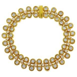 Boucheron Diamond Yellow Gold Bracelet, 1980s
