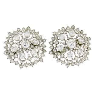 Buccellati Diamond White Gold Earrings