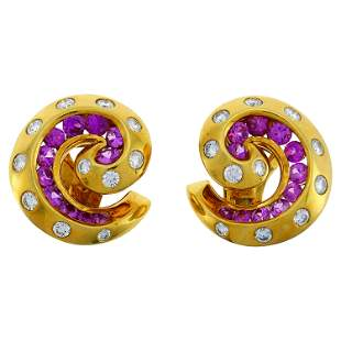 Van Cleef & Arpels Yellow Gold Clip-On Earrings with