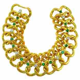 Van Cleef & Arpels Yellow Gold Bracelet with Diamond