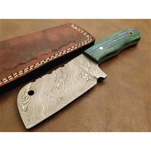 Integral damascus steel axe pakka wood hunting