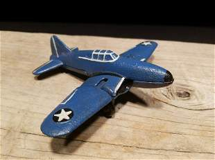 Cast Iron Folding Wing Airplane Toy