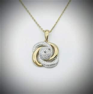 Necklace w Diamond Pendant