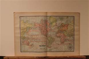 1889 World Map