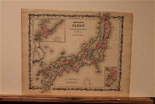 1864 Map of Japan