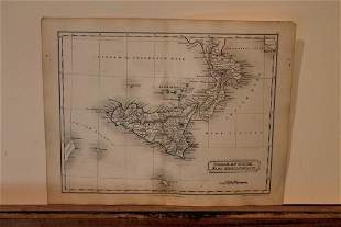 1801 Map of Sicilly