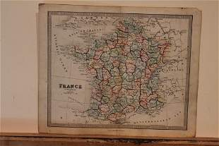 1860 Map of France