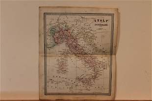 1860 Map of Italy